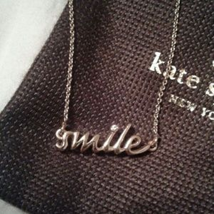 Authentic Kate Spade Gold 'Smile' Necklace
